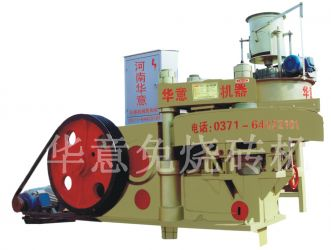 Rotary eight holes brick making machine